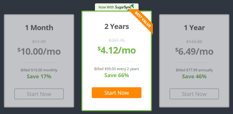 IPVanish价钱计划